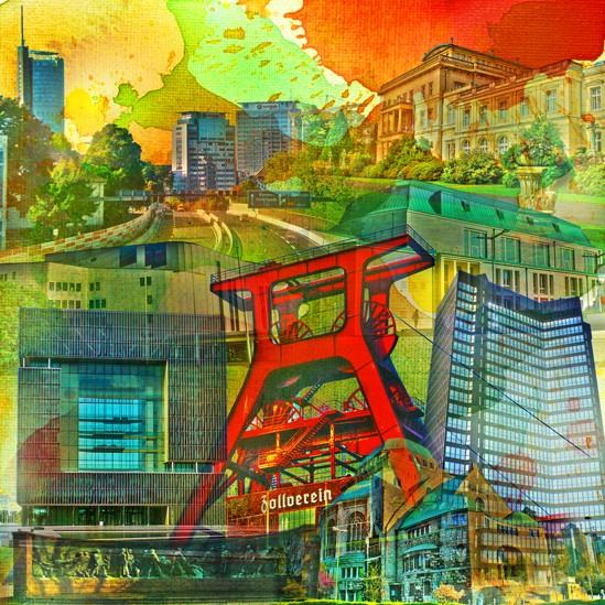 RAY - RAYcities - Essen - Collage - 70 x 70 cm