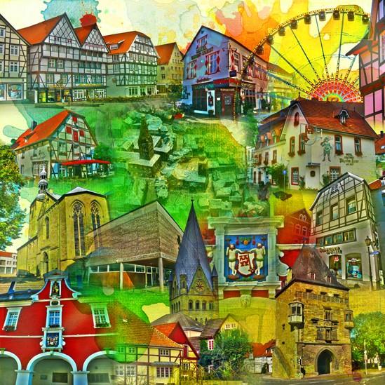 RAY - RAYcities - Soest - Collage - 70 x 70 cm