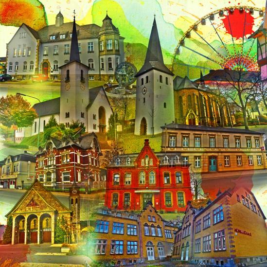 RAY - RAYcities - Hüsten - Collage - 100 x 100 cm