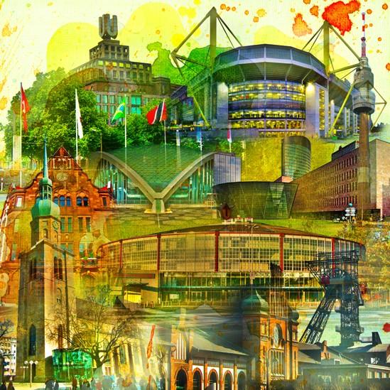 RAY - RAYcities - Dortmund - Collage - 100 x 100 cm