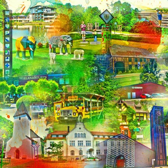 RAY - RAYcities - Hamm - Collage - Pelkum und Wischerhöfen - 70 x 70 cm
