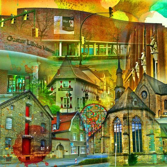 RAY - RAYcities - Hamm - Collage - Museumsquartier - 70 x 70 cm
