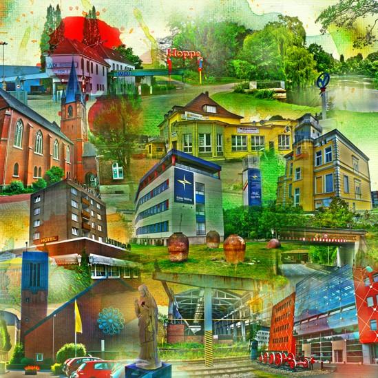 RAY - RAYcities - Hamm - Collage - City West - 70 x 70 cm