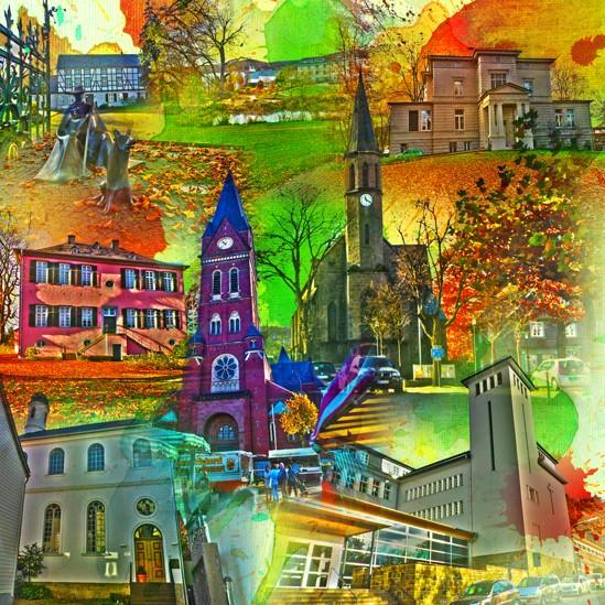 RAY - RAYcities - Neheim - Collage - 100 x 100 cm