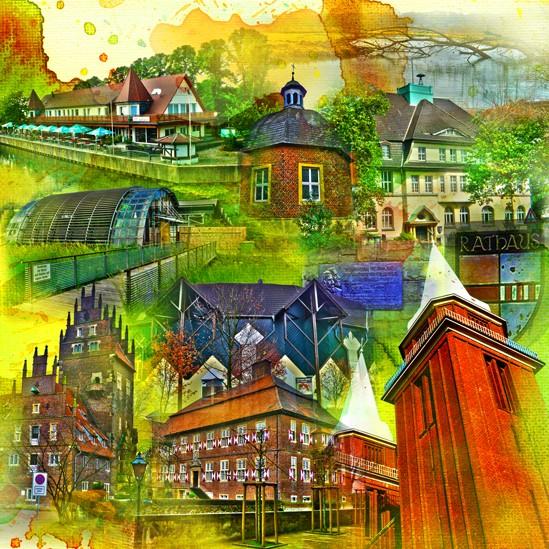 RAY - RAYcities - Hamm - Collage - Heessen - 70 x 70 cm