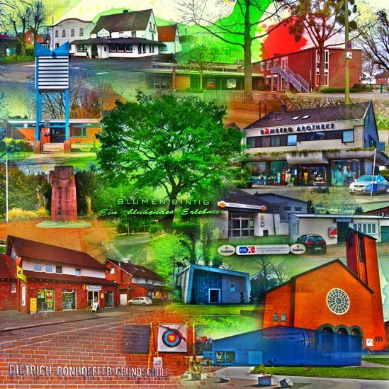 RAY - RAYcities - Hamm - Collage - Westtünnen - 100 x 100 cm