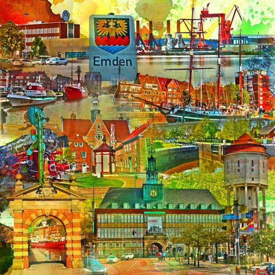 RAY - RAYcities - Emden - Collage - 100 x 100 cm