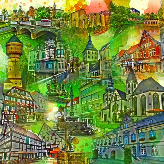 RAY - RAYcities - Lippstadt - Collage - 100 x 100 cm