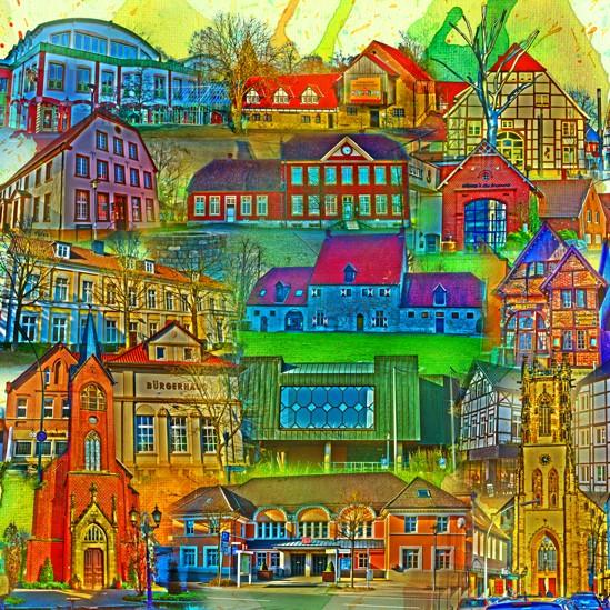 RAY - RAYcities - Oelde - Collage - 70 x 70 cm