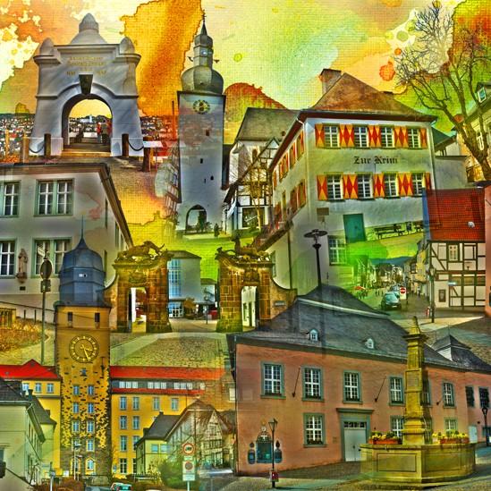 RAY - RAYcities - Arnsberg - Collage - 100 x 100 cm