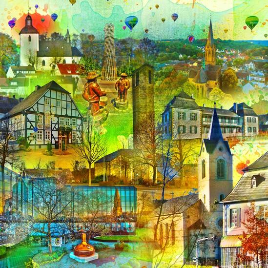 RAY - RAYcities - Warstein - Collage - 70 x 70 cm