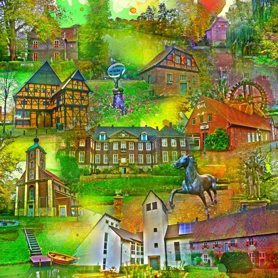 RAY - RAYcities - Drensteinfurt - Collage - 100 x 100 cm