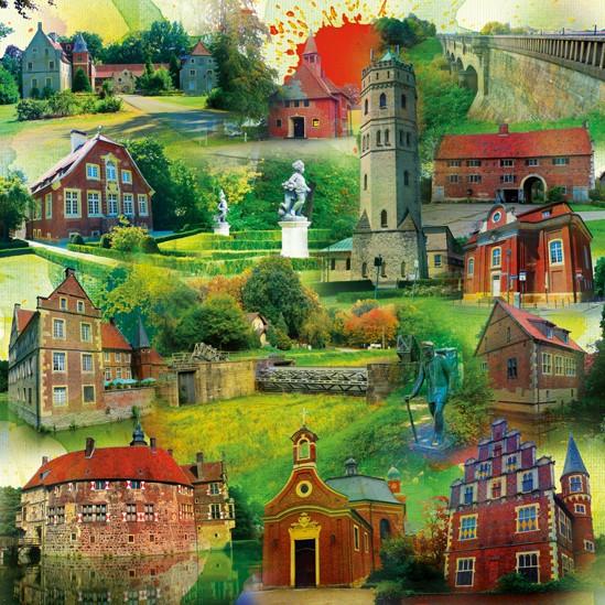 RAY - RAYcities - Münster 2 - Collage - 70 x 70 cm