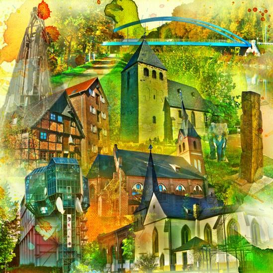 RAY - RAYcities - Hamm - Collage - City Ost - 100 x 100 cm